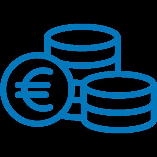Pictogramme représentant des pièces d'Euros